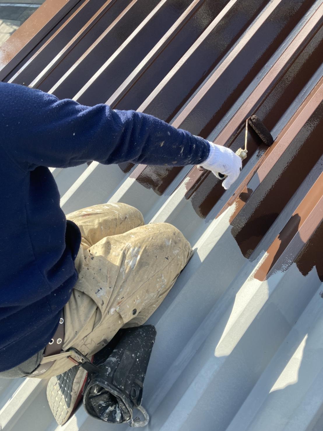 折半屋根塗装